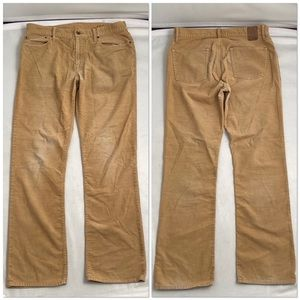 Gap tan distressed lightweight corduroy pants 34